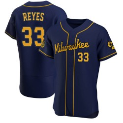 Pablo Reyes Milwaukee Brewers Men's Authentic Alternate Jersey - Navy