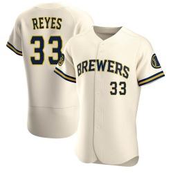 Pablo Reyes Milwaukee Brewers Men's Authentic Home Jersey - Cream