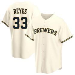 Pablo Reyes Milwaukee Brewers Men's Replica Home Jersey - Cream