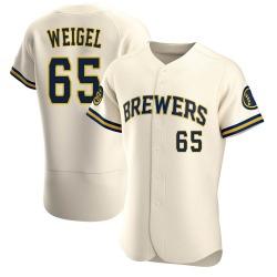 Patrick Weigel Milwaukee Brewers Men's Authentic Home Jersey - Cream