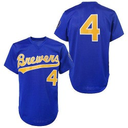 Paul Molitor Milwaukee Brewers Men's Authentic 1991 Throwback Jersey - Blue