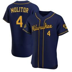 Paul Molitor Milwaukee Brewers Men's Authentic Alternate Jersey - Navy
