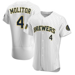 Paul Molitor Milwaukee Brewers Men's Authentic Alternate Jersey - White
