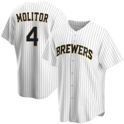Paul Molitor Milwaukee Brewers Men's Replica Home Jersey - White