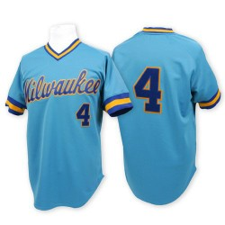Paul Molitor Milwaukee Brewers Men's Replica Throwback Jersey - Blue