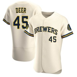 Rob Deer Milwaukee Brewers Men's Authentic Home Jersey - Cream
