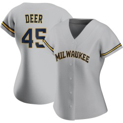 Rob Deer Milwaukee Brewers Women's Authentic Road Jersey - Gray