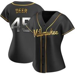 Rob Deer Milwaukee Brewers Women's Replica Alternate Jersey - Black Golden