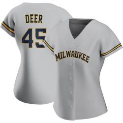 Rob Deer Milwaukee Brewers Women's Replica Road Jersey - Gray