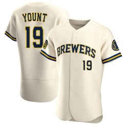 Robin Yount Milwaukee Brewers Men's Authentic Home Jersey - Cream