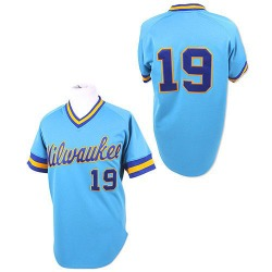 Robin Yount Milwaukee Brewers Men's Authentic Throwback Jersey - Blue