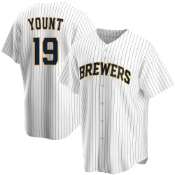 Robin Yount Milwaukee Brewers Men's Replica Home Jersey - White