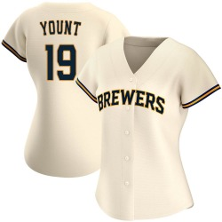 Robin Yount Milwaukee Brewers Women's Replica Home Jersey - Cream