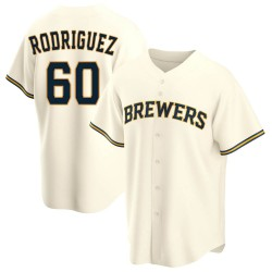 Ronny Rodriguez Milwaukee Brewers Men's Replica Home Jersey - Cream