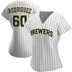 Ronny Rodriguez Milwaukee Brewers Women's Authentic /Navy Alternate Jersey - White