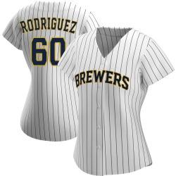 Ronny Rodriguez Milwaukee Brewers Women's Replica /Navy Alternate Jersey - White