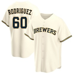 Ronny Rodriguez Milwaukee Brewers Youth Replica Home Jersey - Cream