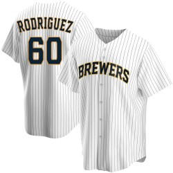 Ronny Rodriguez Milwaukee Brewers Youth Replica Home Jersey - White