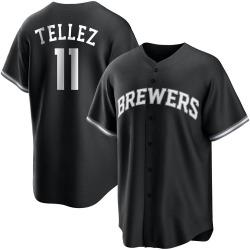 Rowdy Tellez Milwaukee Brewers Men's Replica Black/ Jersey - White