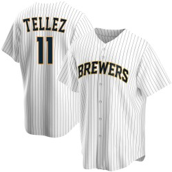 Rowdy Tellez Milwaukee Brewers Men's Replica Home Jersey - White