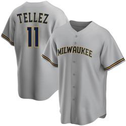 Rowdy Tellez Milwaukee Brewers Youth Replica Road Jersey - Gray