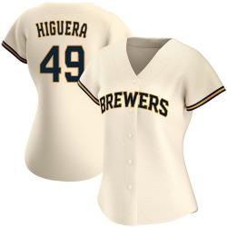 Teddy Higuera Milwaukee Brewers Women's Authentic Home Jersey - Cream