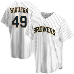 Teddy Higuera Milwaukee Brewers Youth Replica Home Jersey - White
