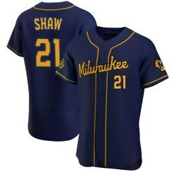Travis Shaw Milwaukee Brewers Men's Authentic Alternate Jersey - Navy
