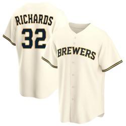 Trevor Richards Milwaukee Brewers Men's Replica Home Jersey - Cream