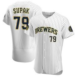 Trey Supak Milwaukee Brewers Men's Authentic Alternate Jersey - White
