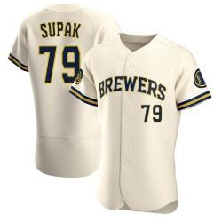 Trey Supak Milwaukee Brewers Men's Authentic Home Jersey - Cream