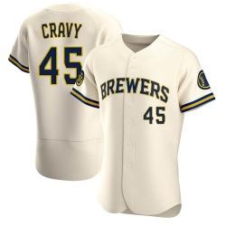 Tyler Cravy Milwaukee Brewers Men's Authentic Home Jersey - Cream