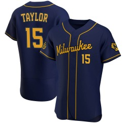Tyrone Taylor Milwaukee Brewers Men's Authentic Alternate Jersey - Navy