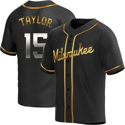 Tyrone Taylor Milwaukee Brewers Men's Replica Alternate Jersey - Black Golden