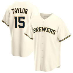 Tyrone Taylor Milwaukee Brewers Men's Replica Home Jersey - Cream