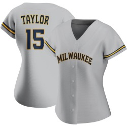 Tyrone Taylor Milwaukee Brewers Women's Authentic Road Jersey - Gray