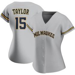 Tyrone Taylor Milwaukee Brewers Women's Replica Road Jersey - Gray