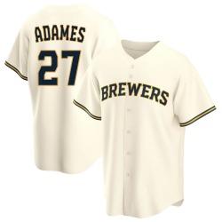 Willy Adames Milwaukee Brewers Men's Replica Home Jersey - Cream