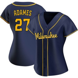 Willy Adames Milwaukee Brewers Women's Replica Alternate Jersey - Navy