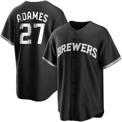 Willy Adames Milwaukee Brewers Youth Replica Black/ Jersey - White